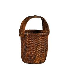 Stool International Chinese Style Vegetable Basket in Natural