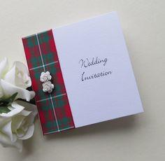MacGregor Tartan Rose wedding invitation