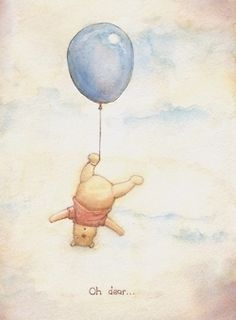 The simplicity of Pooh; depicting such honest life moments
