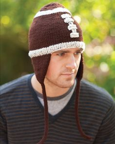 Football Hat Knitting Pattern from Your Knitting Life Magazine