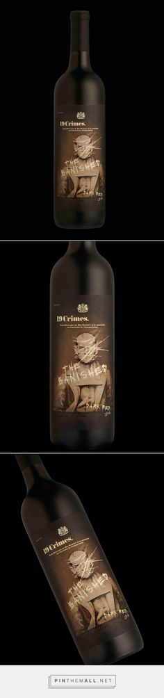 """19 Crimes wine but darker. Much darker."" - The Banished designed by Stranger & Stranger - http://www.packagingoftheworld.com/2017/01/the-banished.html"