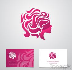 Free download Woman's head logo business card vector . Free vector includes company, address, website, telephone, women, portrait, face, logo, business cards, v