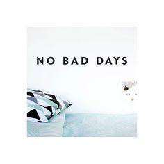 no bad days made of sundays wall sticker - Google Search