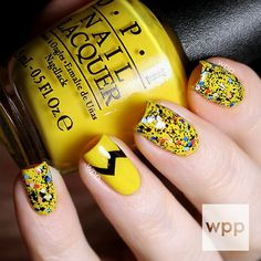 Charlie Brown Nail Art with OPI  -
