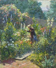 """Abbott Fuller Graves (1859-1936), """"In the Garden"""""""