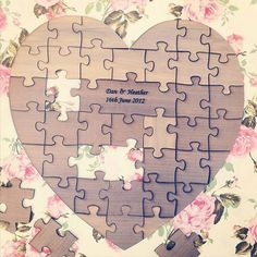 5 quirky alternatives to traditional wedding guest books – Heart puzzles!