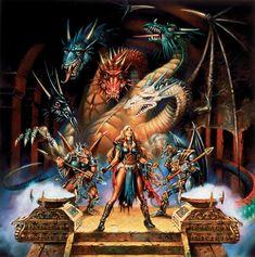 dragonlance dragon pictures | Uma curiosidade sobre os desenhos de Caldwell é que em quase todos ...