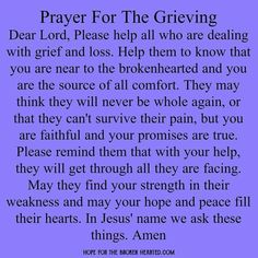 Prayer For The Grieving