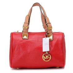 MICHAEL Michael Kors Grayson Large Satchel Red