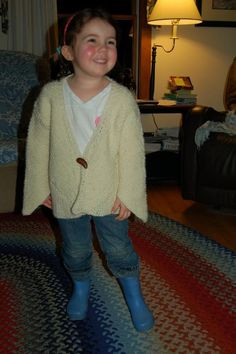 Diagonal Sweater -- child prototype