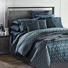 Oake Mirage Comforter Twin Bedding Duvet Blue 100% Pima Cotton #Oake #Modern