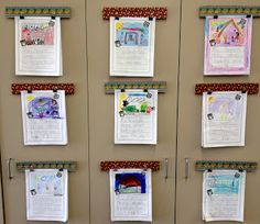 Tutorial for making cute mini-cork board strips to mount on cabinets to display student work. Love this!!