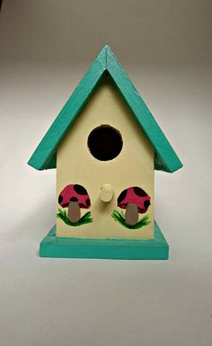 A Button Mushroom Birdhouse Made Of By TrinityCreatesUnique, $125.00 |  Colonialcrafts: An Eclectic Fusion Of Vintage And Crafts! | Pinterest |  Birdhouse