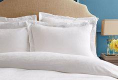 The Hotel Linen Closet white bedding linens sheets