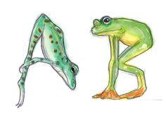 Fruitful Design » Frog Alphabet #design #illustration #frog #alphabet