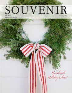 Souvenir Magazine via Trisha Brink Design love the simple wreath