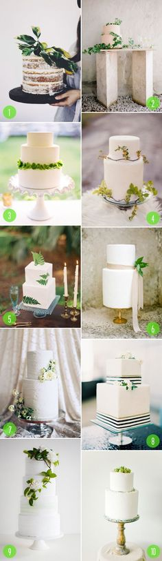 Top 10: Cakes with greenery