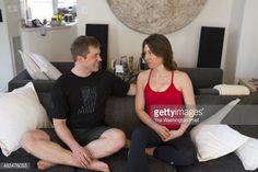 Former U.S. Marine Captain, Billy Birdzell, left and poses with his girlfriend Meaghan Kennedy Townsend at their home in Fairfax, Virginia on March 8, 2014. Birdzell, who currently works at the NRA,... Get premium, high resolution news photos at Getty Images