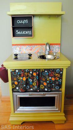 Gør det selv legekøkken - gamle møbler