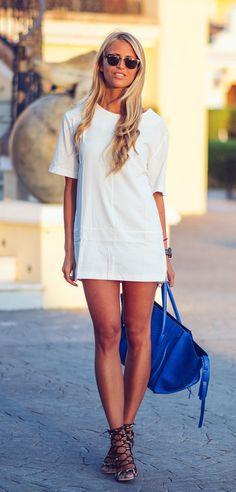 .t shirt dress <3
