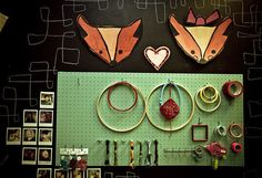 I really like the idea of using a peg board for organization.