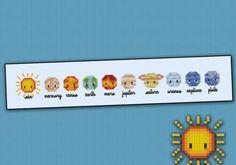 Mini Solar System - Mini People - Cross Stitch Patterns - Products