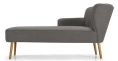 Jersey chaise longue met leuning rechts, grafietgrijs