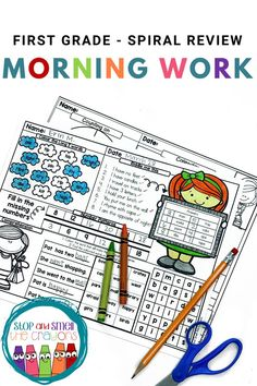 Do you want to gain back those precious moments lost in the morning during entrance, attendance, announcements and the anthem? My first-grade morning work is just the thing to get students started every morning effectively Phonics Activities, Classroom Activities, Classroom Ideas, Spring School, Morning Work, Math Skills, Literacy Centers, Precious Moments, First Grade