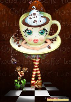#Café * #Coffee ♡ #Ilustração *
