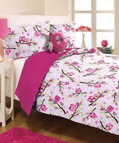 Look at this #zulilyfind! Purple Owls Mini Comforter Set #zulilyfinds