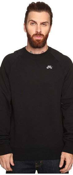 Nike SB SB Everett Crew Top (Black/White) Men's Long Sleeve Pullover - Nike SB, SB Everett Crew Top, 846884-010, Apparel Top Long Sleeve Pullover, Long Sleeve Pullover, Top, Apparel, Clothes Clothing, Gift - Outfit Ideas And Street Style 2017