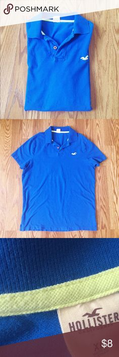 BLUE HOLLISTER POLO SHIRT💕❤️ BLUE JUNIOR POLO SHIRT used but great condition❤️ Hollister Shirts Polos