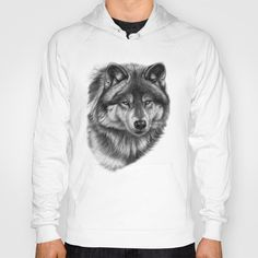 Canis Lupus SK0105 Hoody by S-Schukina - $38.00