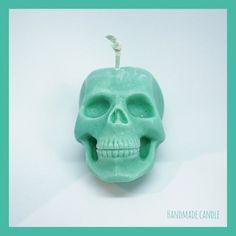 Sugar Skull Kerze grün (kein Duft)  #halloweencandle #halloween #halloweenkerze #kerze #skull #totenkopf