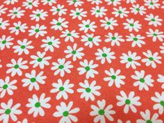 Japanese Cotton Floral Print Fabric  Cosmo by JapanLovelyCrafts, $8.50