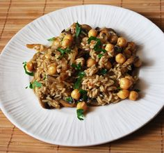 Mushroom Risotto with Carmelized Onions