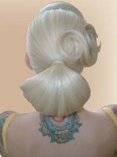 Sabina Kelley chignon by Candace Campbell