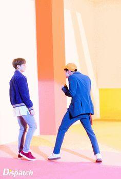 Jungkook and Jin ❤ BTS X Dispatch! 'DNA' MV~ (Original Article: m.entertain.naver.com) #BTS #방탄소년단