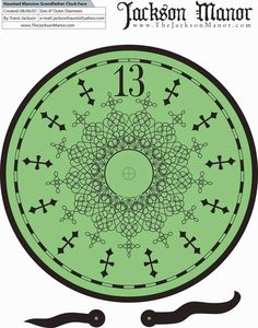 DISNEY PRINTABLE HAUNTED MANSION CLOCK FACE Double Click Photo once you are on the source page right click photo of clock face then click save and save to your desktop clock face is large enough for a life sized Haunted Mansion Clock