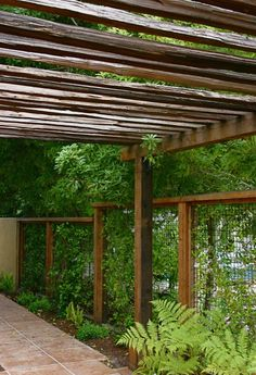 For trellis over outdoor common area.