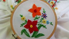 Hand Embroidery: Button Hole Stitch Variation