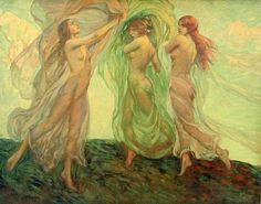 Bilde: Louis Frederick Bernecker (1876 – 1937, American)   LA CONCHIGLIA ...