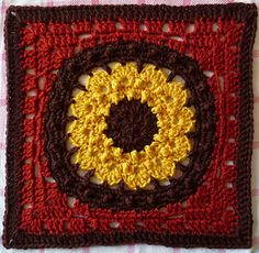 "Lion's Mane 12"" Square - free crochet pattern by April Moreland with over 340 Ravelry projects."