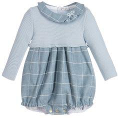 Mebi Blue Check & Knit Traditional Shortie at Childrensalon.com