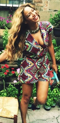 Beyonce wearing a dress found on @Etsy