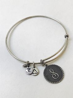 7935bf4ba77 Authentic Alex and Ani Silver Tone Letter Initial