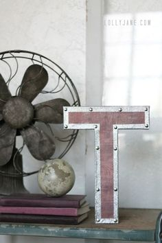 DIY Restoration Hardware Hacks! (part 1) • Tutorials, including, from 'Lolly Jane', these DIY RH inspired vintage industrial letters!