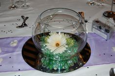 Our complimentary Fishbowl table centres