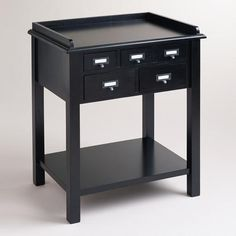 One of my favorite discoveries at WorldMarket.com: Black 5-Drawer Preston Table