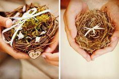 Dieciséis ideas para la caja de los anillos de casados #bodas #ElBlogdeMaríaJosé #Anilloscasados #Ceremoniaboda